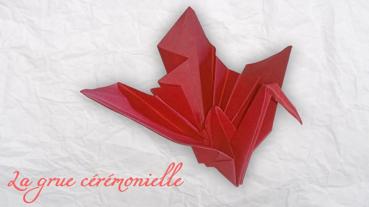 tuto origami la grue c r monielle the ceremonial crane. Black Bedroom Furniture Sets. Home Design Ideas