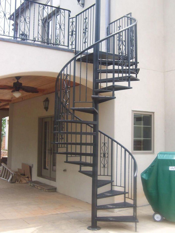Fabulous 25 Exterior Spiral Staircase Ideas To Inspire You Freshouz Com Staircase Design Modern Stairs Design Exterior Stair Railing