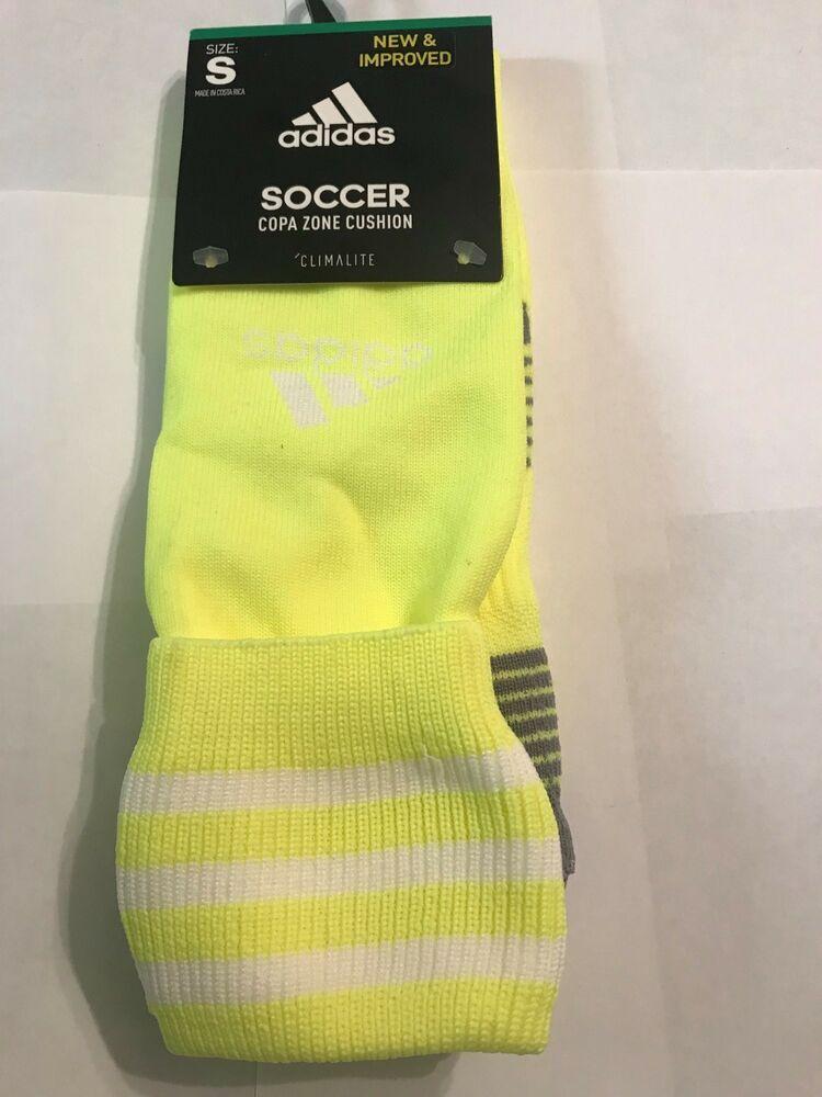 bb7d5d571 NWT Adidas Copa Zone Cushion III OTC Soccer Socks Size SM Volt/white  #fashion #clothing #shoes #accessories #mensclothing #socks (ebay link)