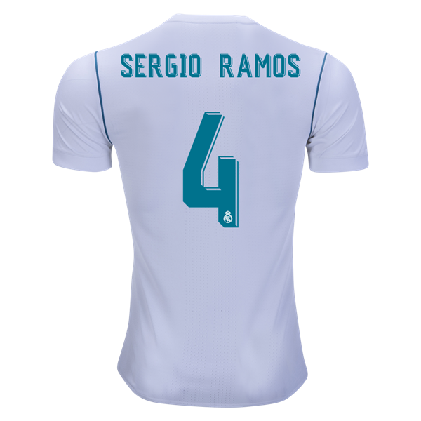 best service 48d77 a2fd4 adidas Sergio Ramos Real Madrid Authentic Home Jersey 17/18 ...