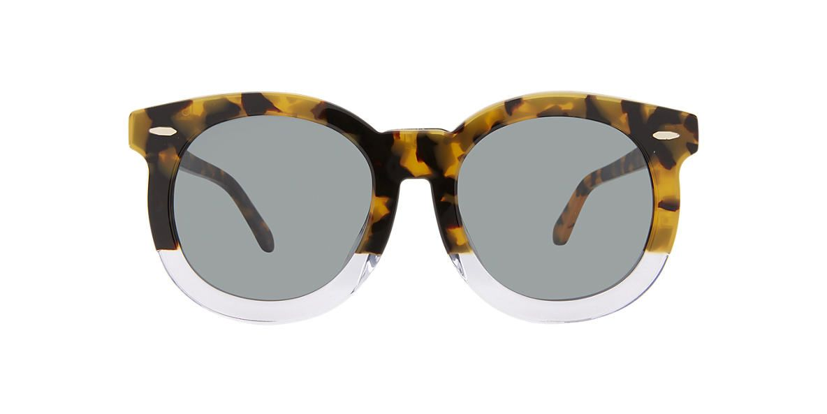 KAREN WALKER Tortoise A SUPER DUPER T Green lenses 53mm