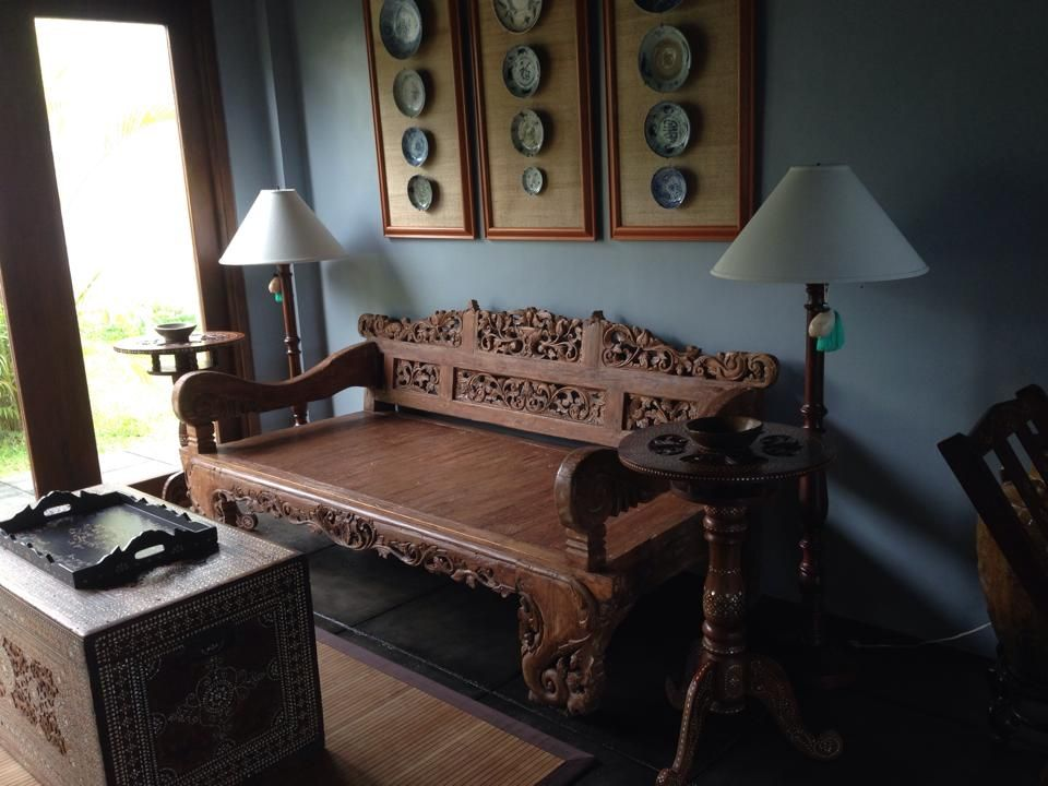 Asian fusion style living room A Javanese daybed Philippine