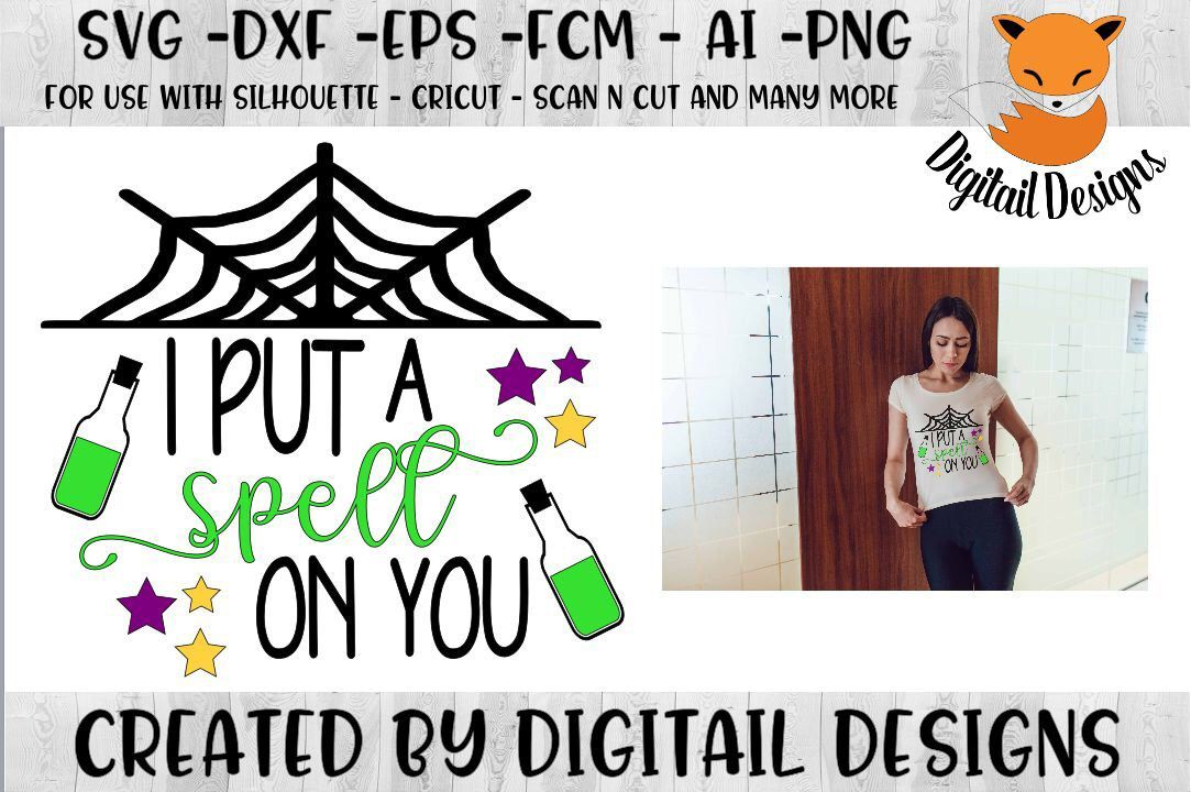 I Put a Spell On You SVG Dxf Png Eps Fcm Ai