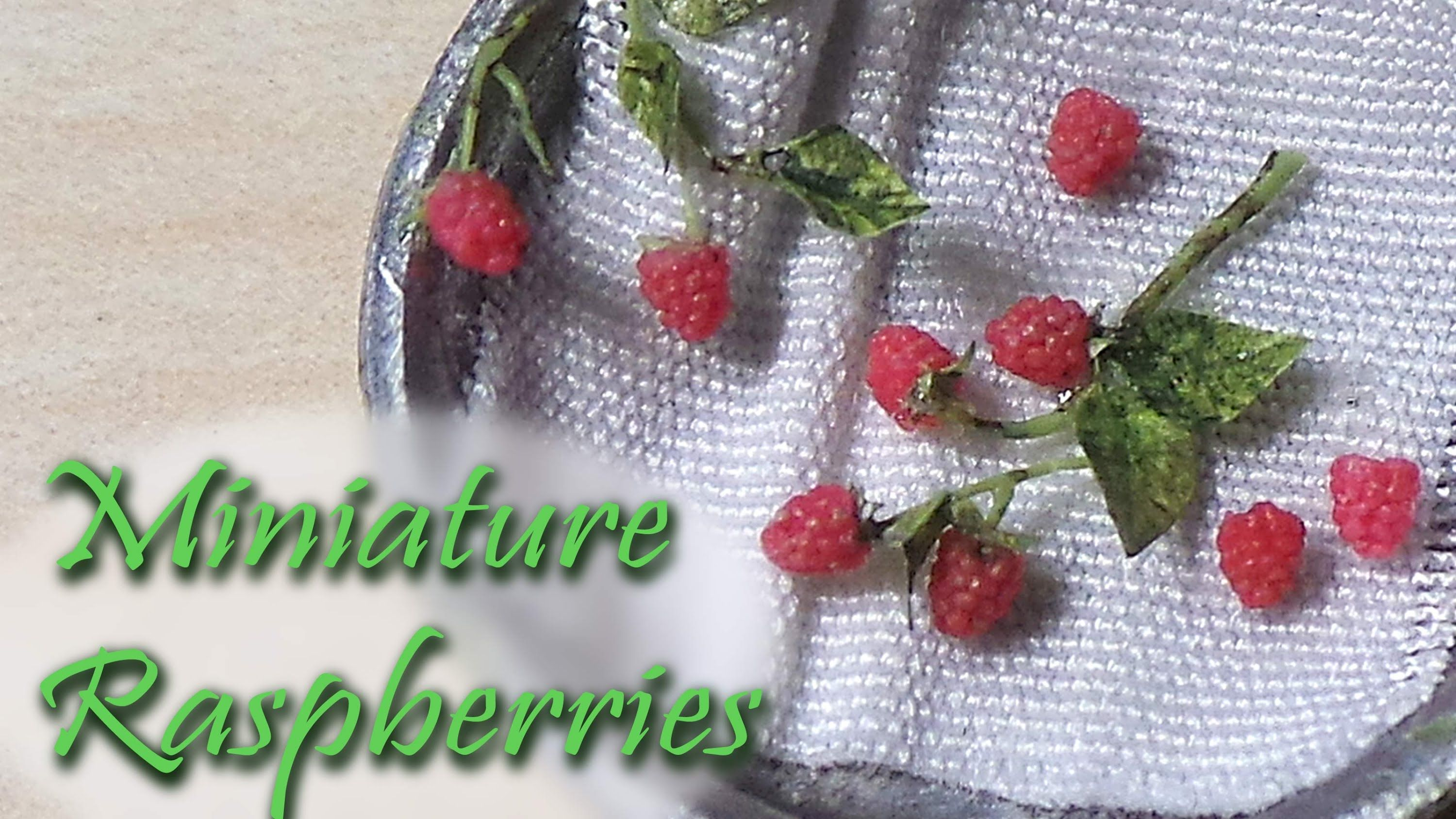 Miniature Raspberries - Raspberry Polymer Clay Tutorial