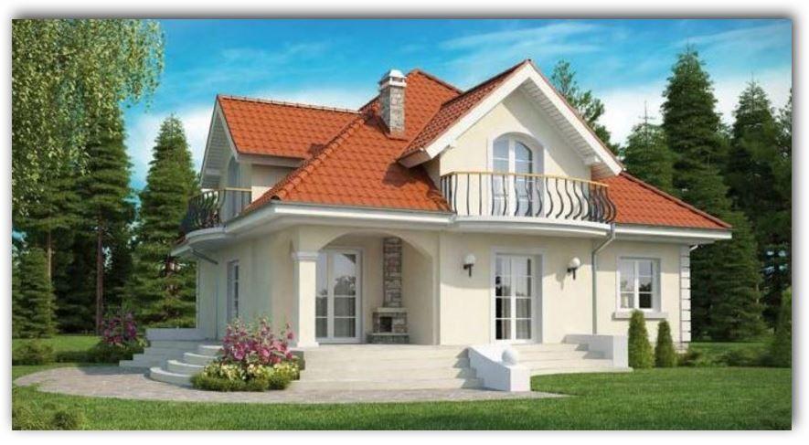 Casas de dos niveles moderna con fachada de teja casas for Casas modernas pequenas de dos plantas