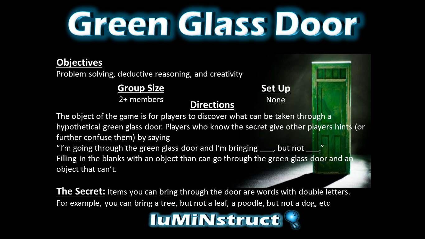 Green Glass Door Luminstruct