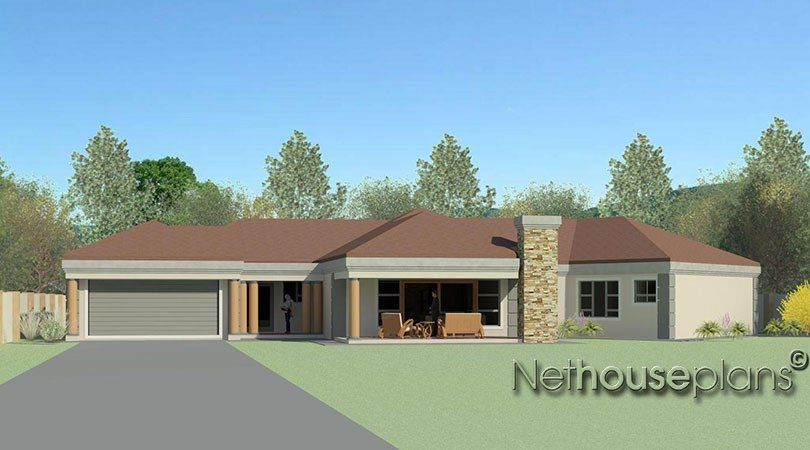 Modern Tuscan Style House Plan 5 Bedroom Single Storey Floor Plans House Plans Modern Craf Single Storey House Plans Free House Plans House Plans For Sale