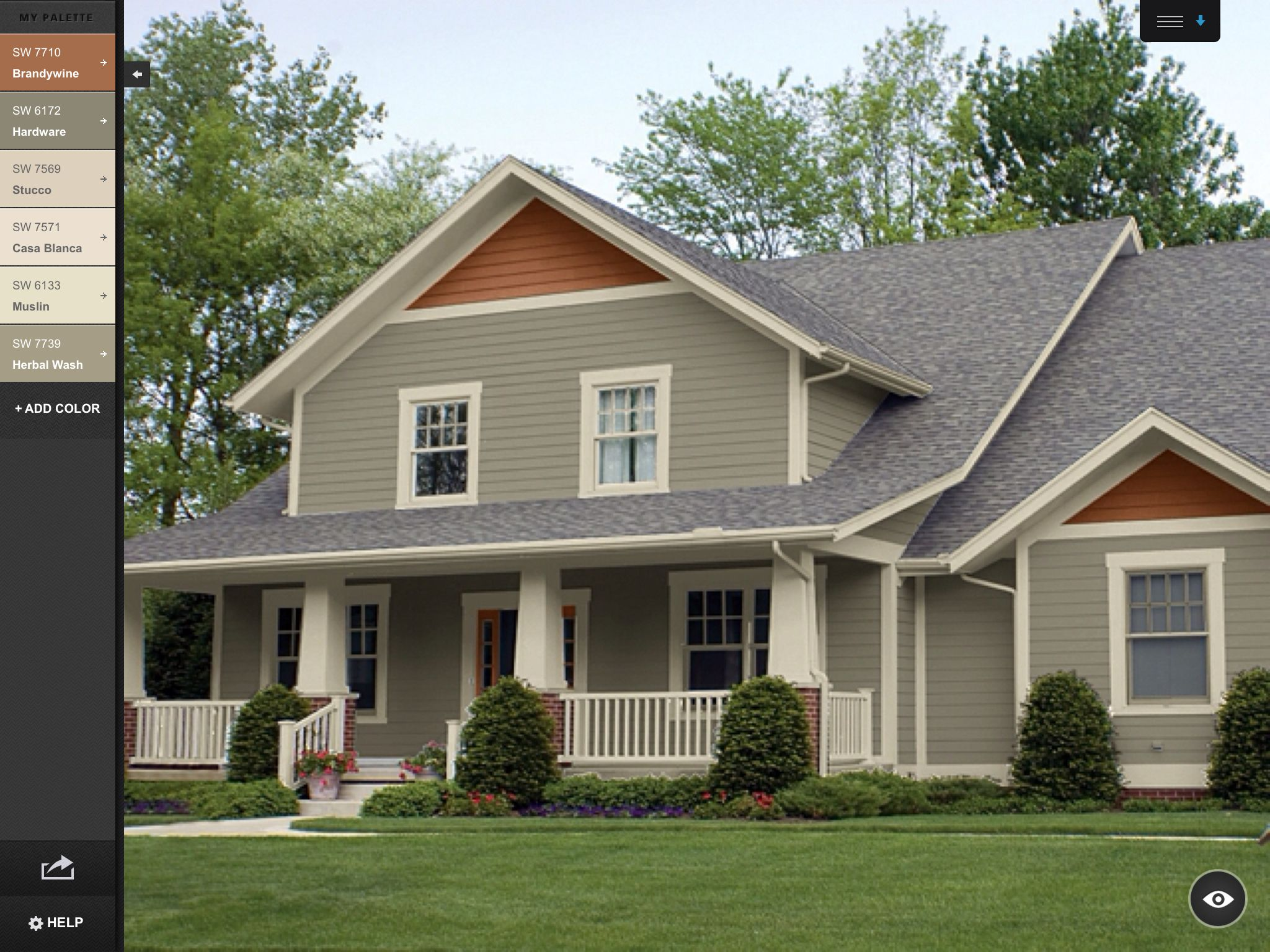 Hardware cream brandywine exterior exterior paint - Green exterior paint color schemes ...