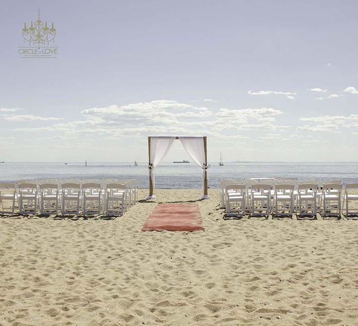 Brighton Beach Wedding Ceremony Www.circleoflovew