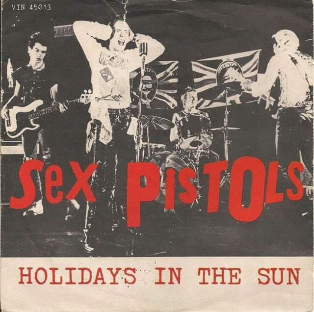 "Sex Pistols - Holidays In The Sun [1977, Virgin VIN 45013 │Italy] - 7""/45 vinyl record [PUNK"