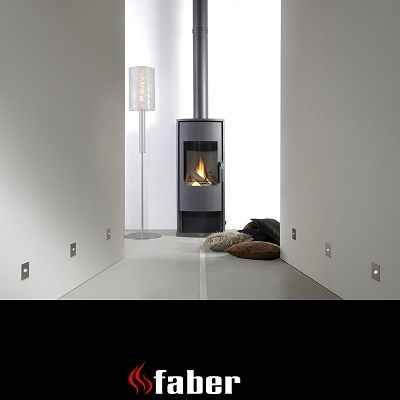 Gas Stove Faber Vaska Modern Gas Fired Stove With Log Effect. (1388mm By  612mm