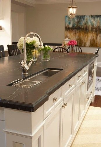 The Size And Shape Of This Prep Sink Suits The Island In The Kitchen I Ve Designed In My Hea Kitchen Countertop Choices Kitchen Island With Sink Kitchen Marble