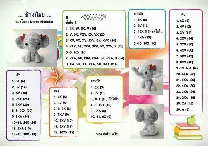 Pattern thai amigurumi   Patrones Amigurumi   Pinterest   Patrones ...
