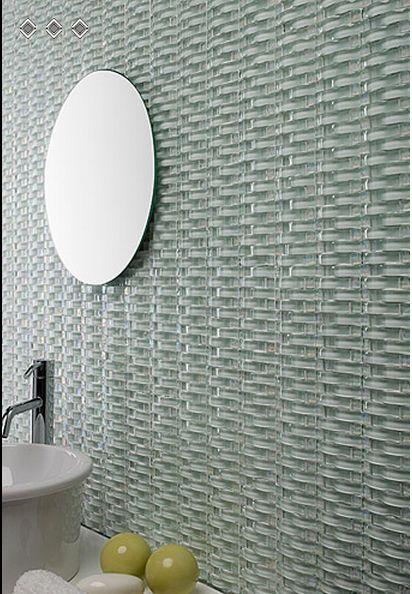 Wave 3d Glass Tile White Mineral Tiles Glass Tile Bathroom Bathroom Feature Wall Glass Tile