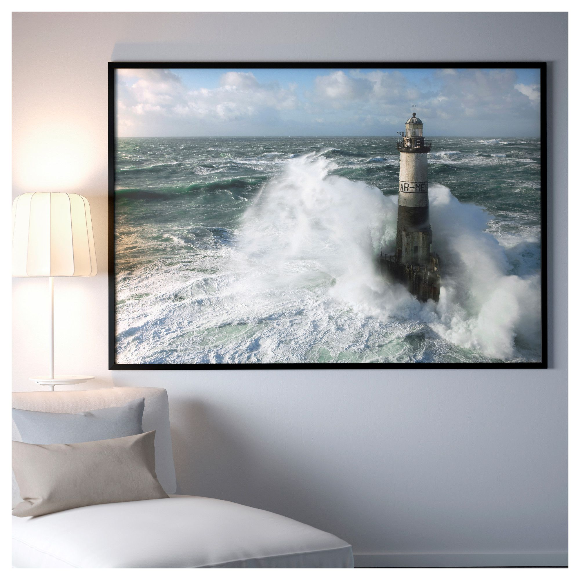 Ar Men Ikea BjÖrksta Picture And Frame Ar Men Lighthouse Black