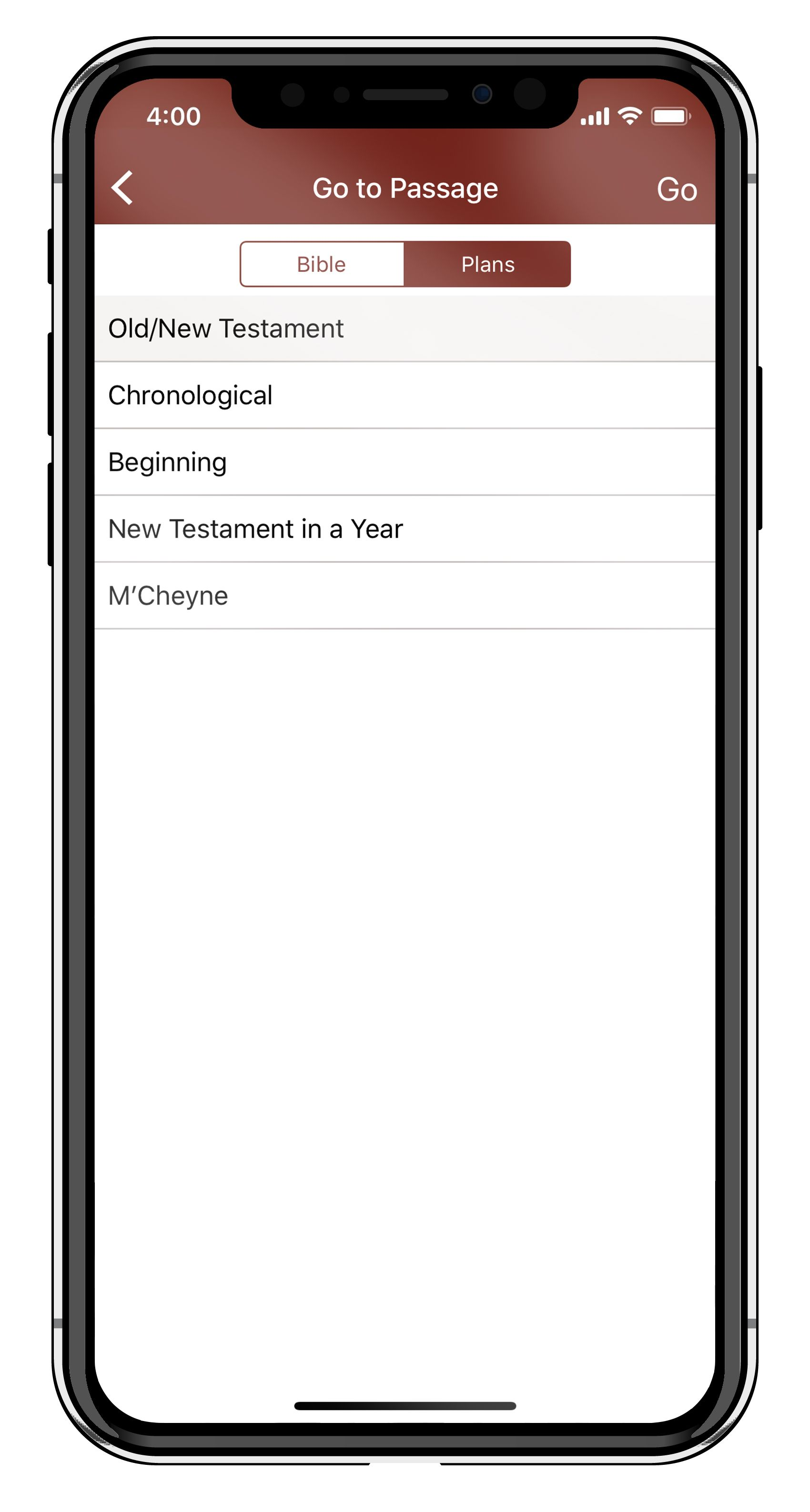 Select a Bible Reading Plan on the Free Bible Audio App