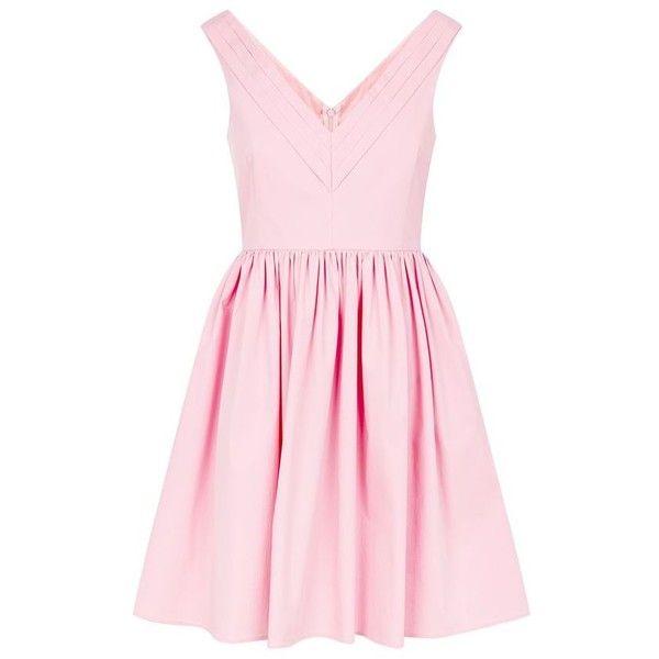 Red Valentino V-Neck Cotton Dress (€460) ❤ liked on Polyvore featuring dresses, red valentino dress, v neckline dress, v neck summer dresses, lightweight summer dresses and cotton day dresses