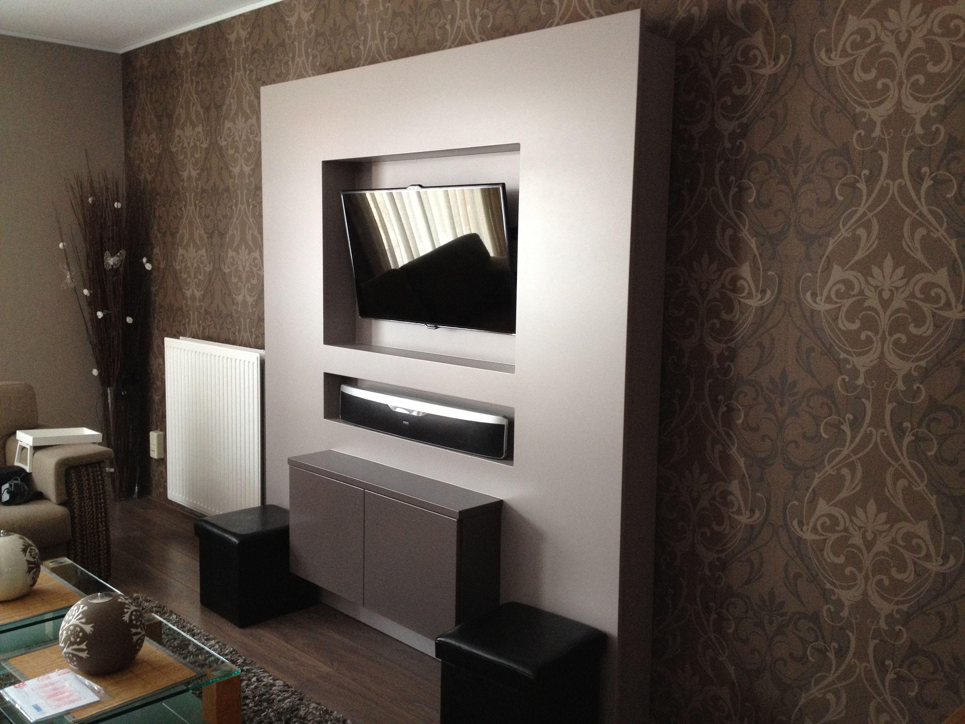Televisiewand cywol maatwerk in meubelen kinderkamers
