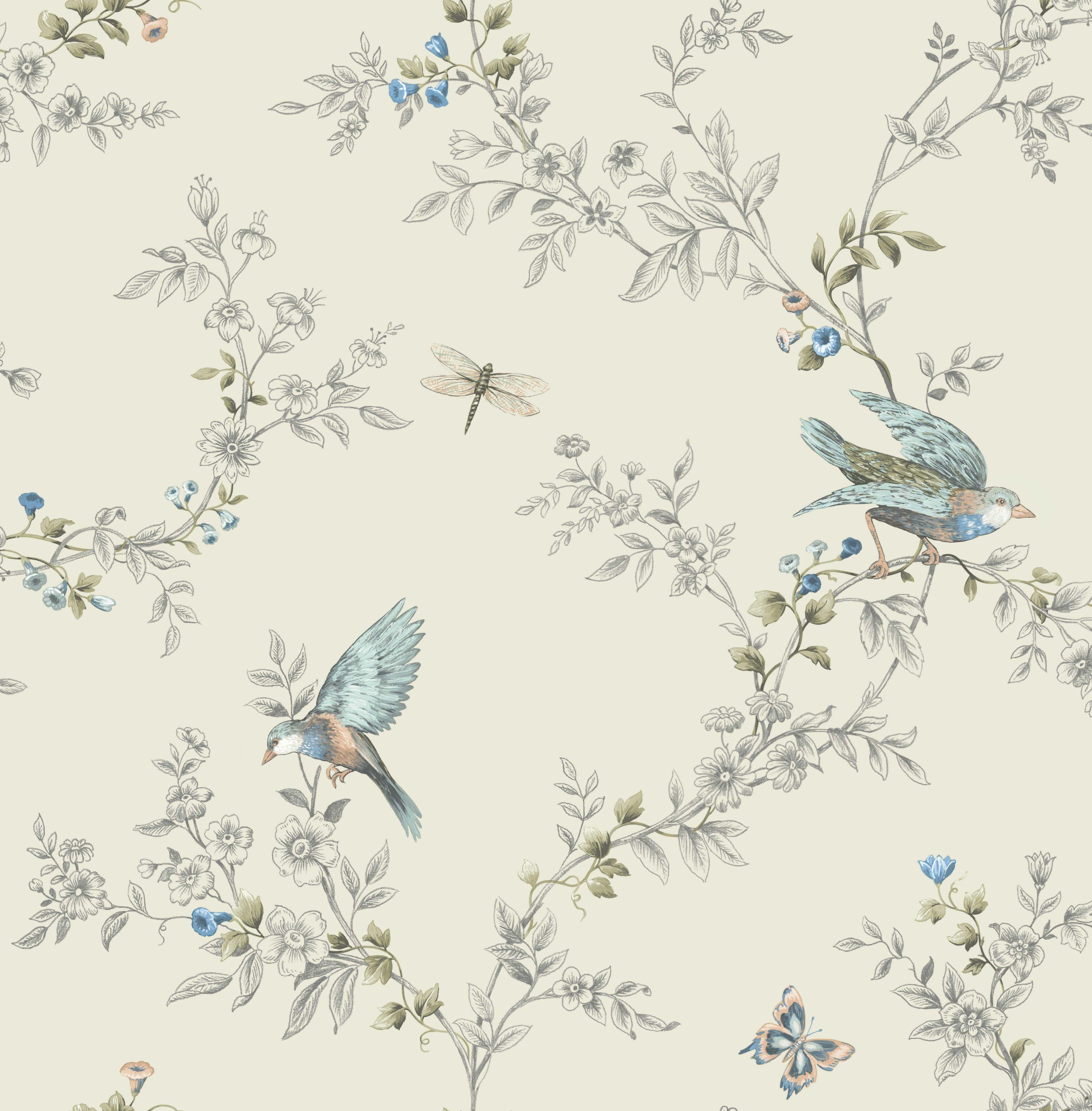 Heligan Cream Wallpaper Departments DIY at B&Q