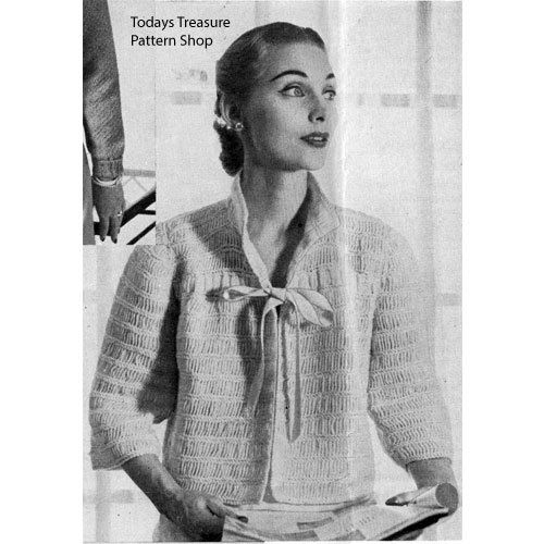 #6 LADY/'S CHUNKY CABLED JACKET  SMALL TO MEDIUM  VINTAGE KNITTING PATTERN
