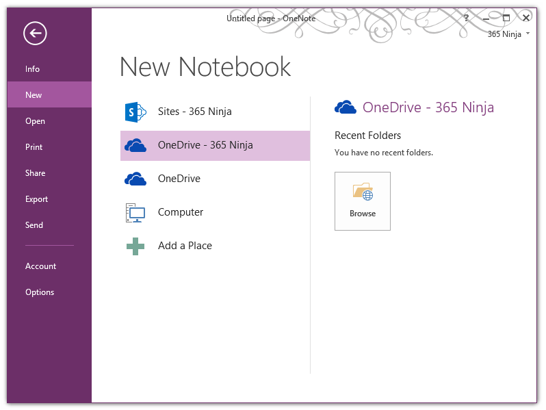 Save and Sync OneNote 2013 Notebooks to OneDrive Sync