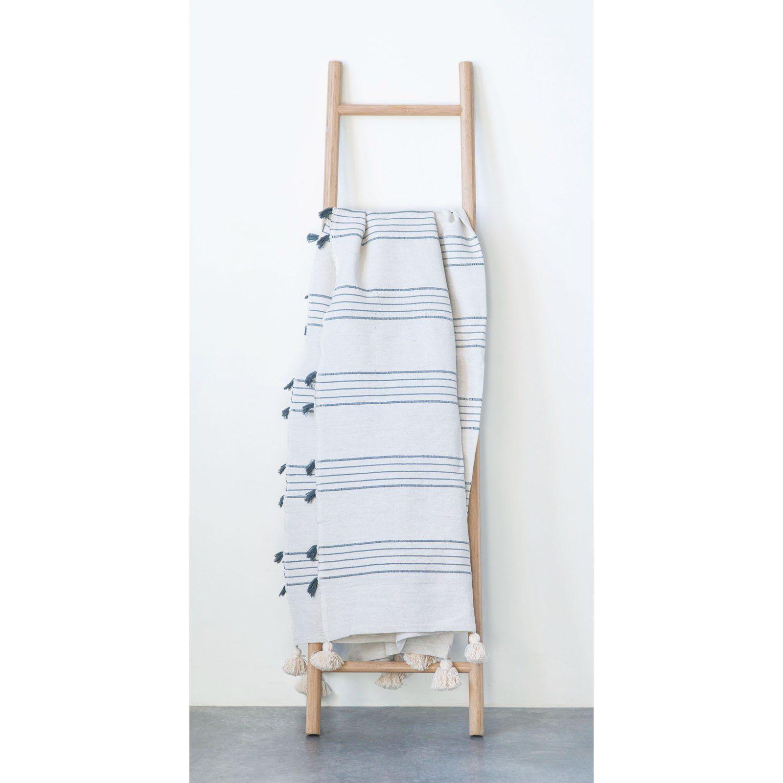 3r Studios Decorative Bamboo Ladder Quilt Rack Walmart Com Blanket Ladder Decor Bamboo Ladders