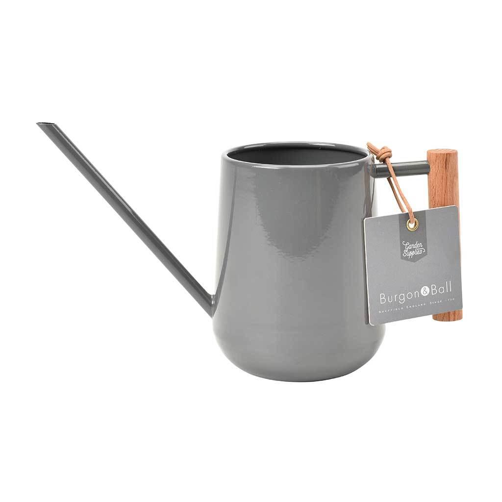 Burgon /& Ball Indoor Watering Can with Wooden Handle