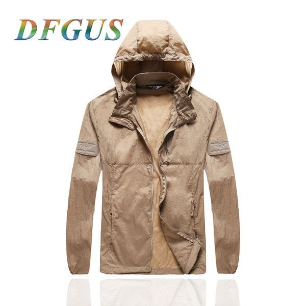 2017 New Men's Hooded Outdoors Windbreaker Jacket Breathable Thin Hike Outwear Clothes College Casual Spring Autumn Jackets