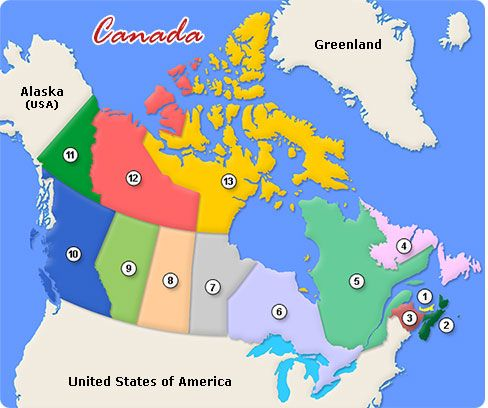Map Of Canada Interactive.Map Of Canada With Outlined Provinces Territories Wks 21 22