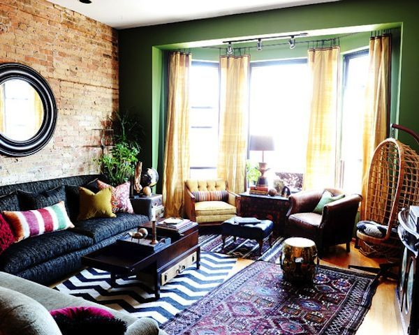 Eclectic And Colorful #boho #chic Living Room With Tons Of Color .