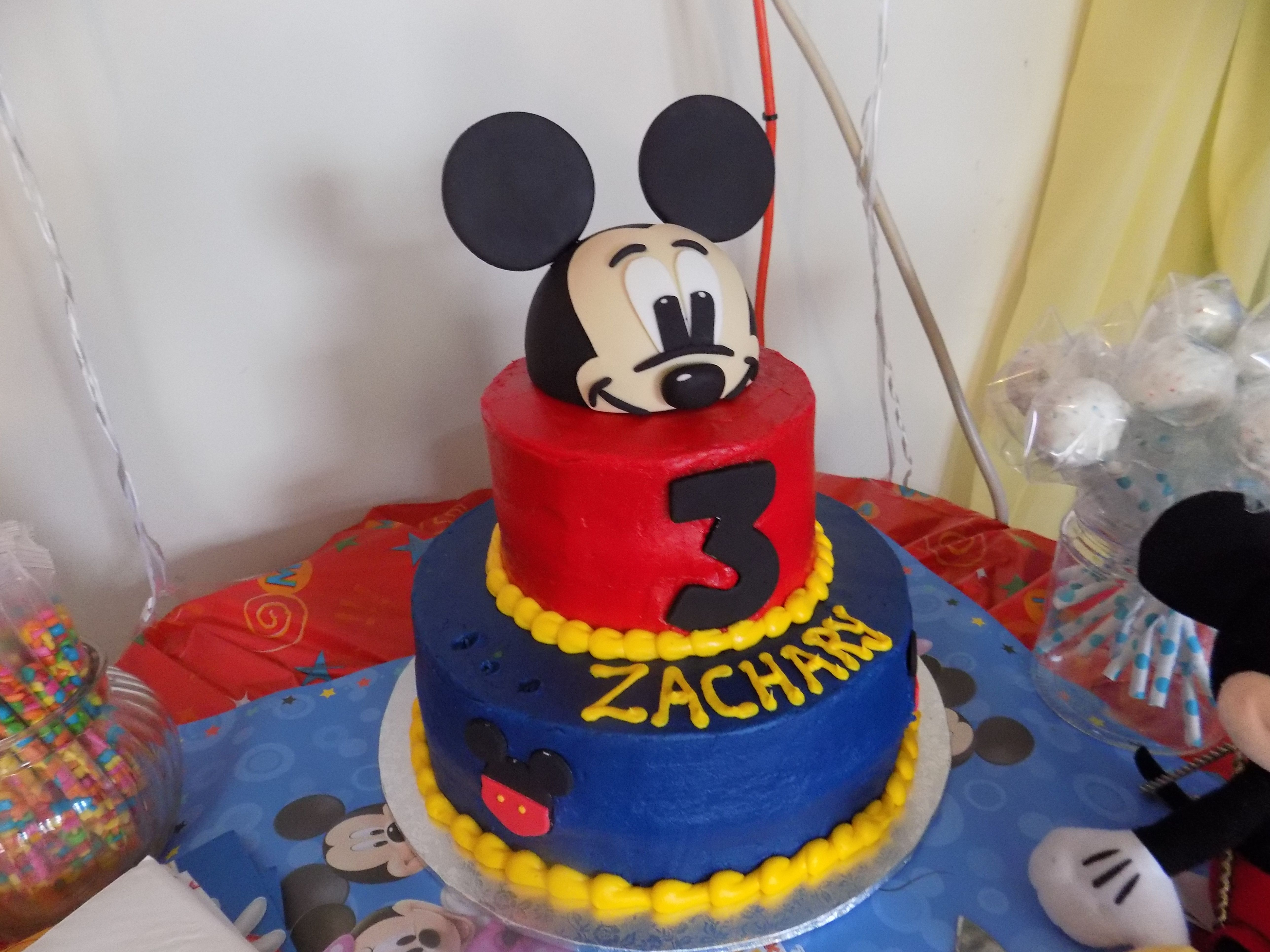 Mickey Cake Affordable 2 Tier Walmart Cake W Custom Colors 58