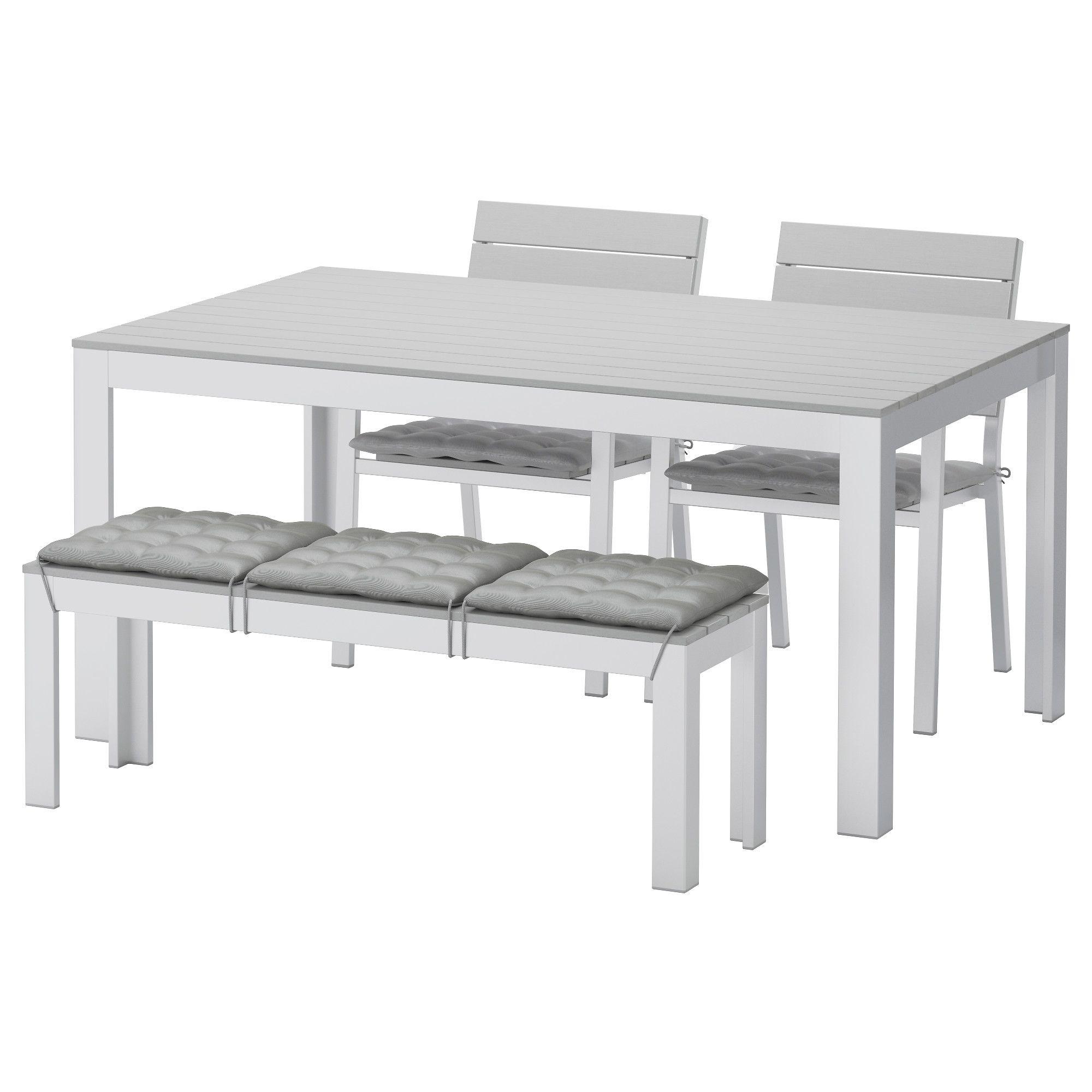 FALSTER, Tisch+2 Stühle+Bank/außen, Grau Jetzt Bestellen Unter: