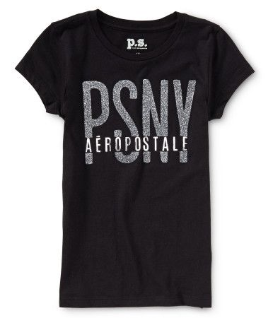 """Our PSNY Sparkle Graphic T is as sassy as it gets! Signature text is highlighted with a metallic finish and tons of glitter, so you'll make a glam impact even on casual days. Whether you flaunt it with printed skinnies or traditional sweats, you'll look so trendy.<br><br>Tag free label.<br>Slim fit. Approx. length (10): 22""""<br>Style: 5001. Imported.<br><br>100% cotton.<br>Machine wash/dry."""
