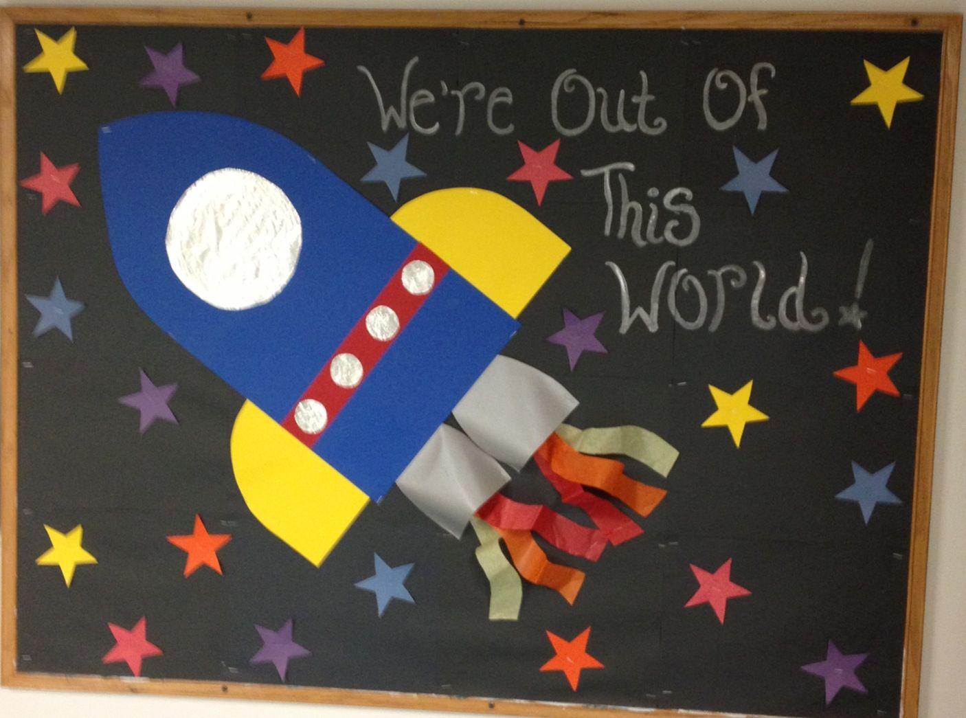 Preschool Space Bulletin Board