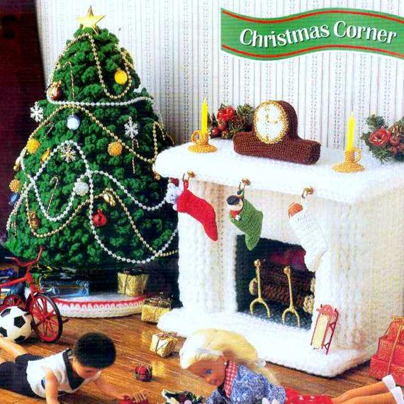 Vintage Crochet Pattern PDF Fashion Doll Home Decor Christmas Tree ...