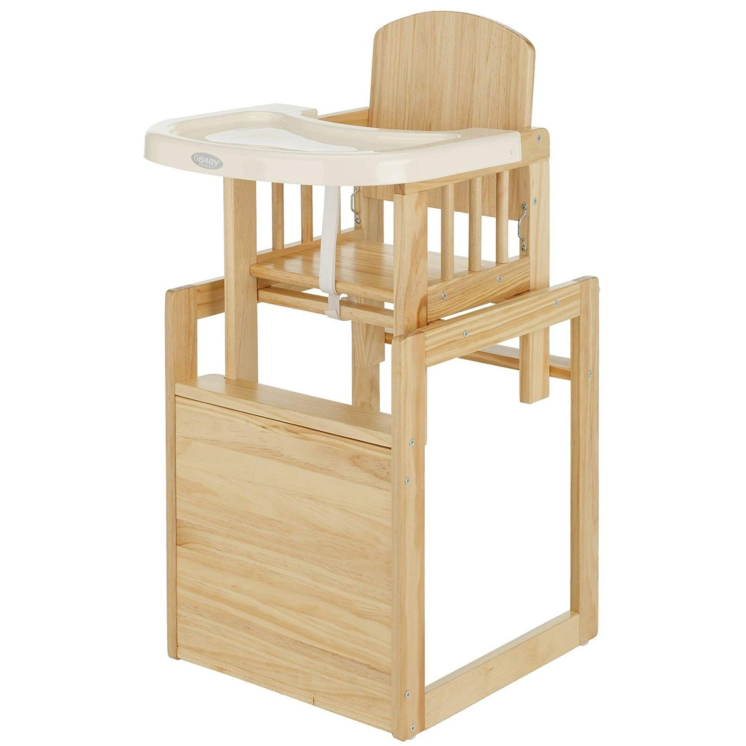 Wooden High Chair Turns Into Chair