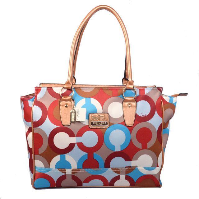 64342389f0 Coach Poppy Candace Carryall Large Khaki Satchels ABD