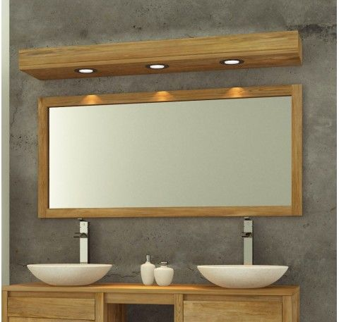 Miroir En Teck Groovy Salle De Bain Teck Miroir De Salle De Bain Lumiere Salle De Bain