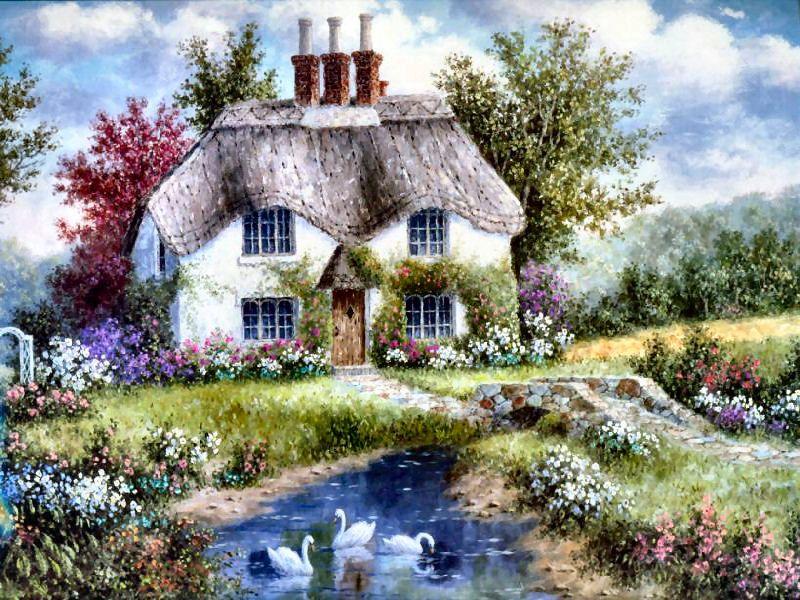 swan creek cottage dennis patrick lewan krajinky pinterest cottage garten gem lde und. Black Bedroom Furniture Sets. Home Design Ideas