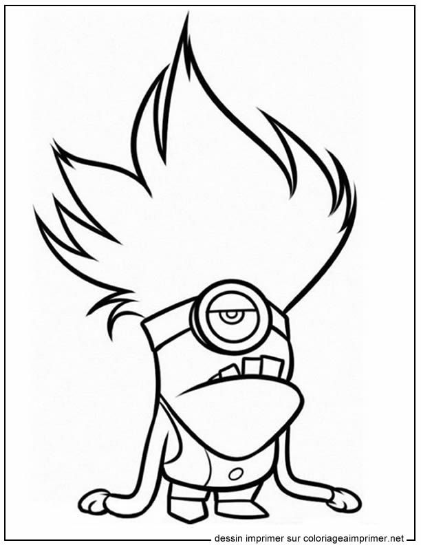 Free Printable Evil Minion Noisemaker Despicable Me 2 Coloring Pages For Kids