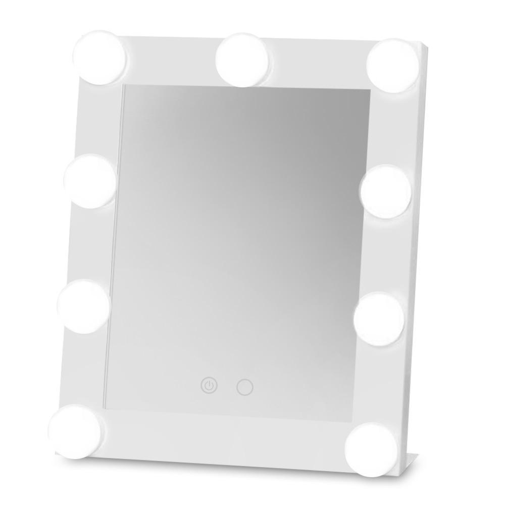 Table Model Square Led Portable Makeup Mirror Mirror Led Mirror