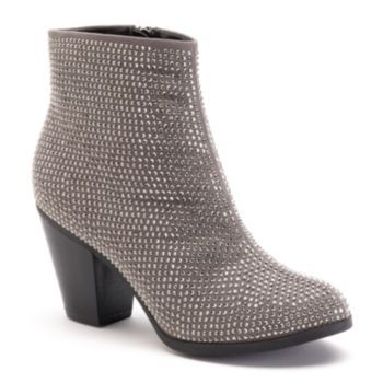 Juicy Couture Womens Sequined Ankle Booties