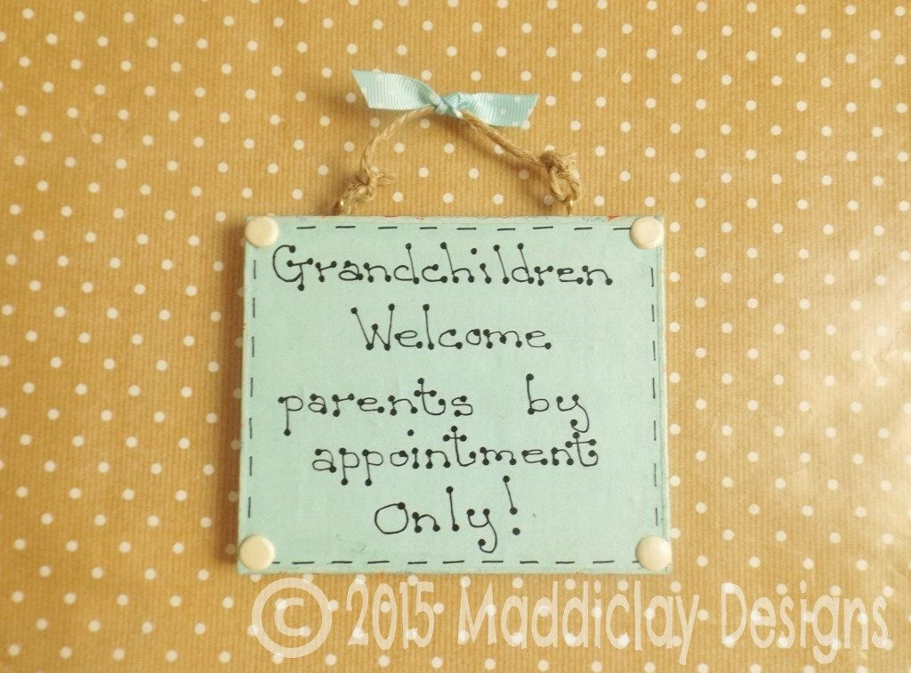 Grandparents Grandchildren Quote Plaque Welcome... Hanging Sign ...