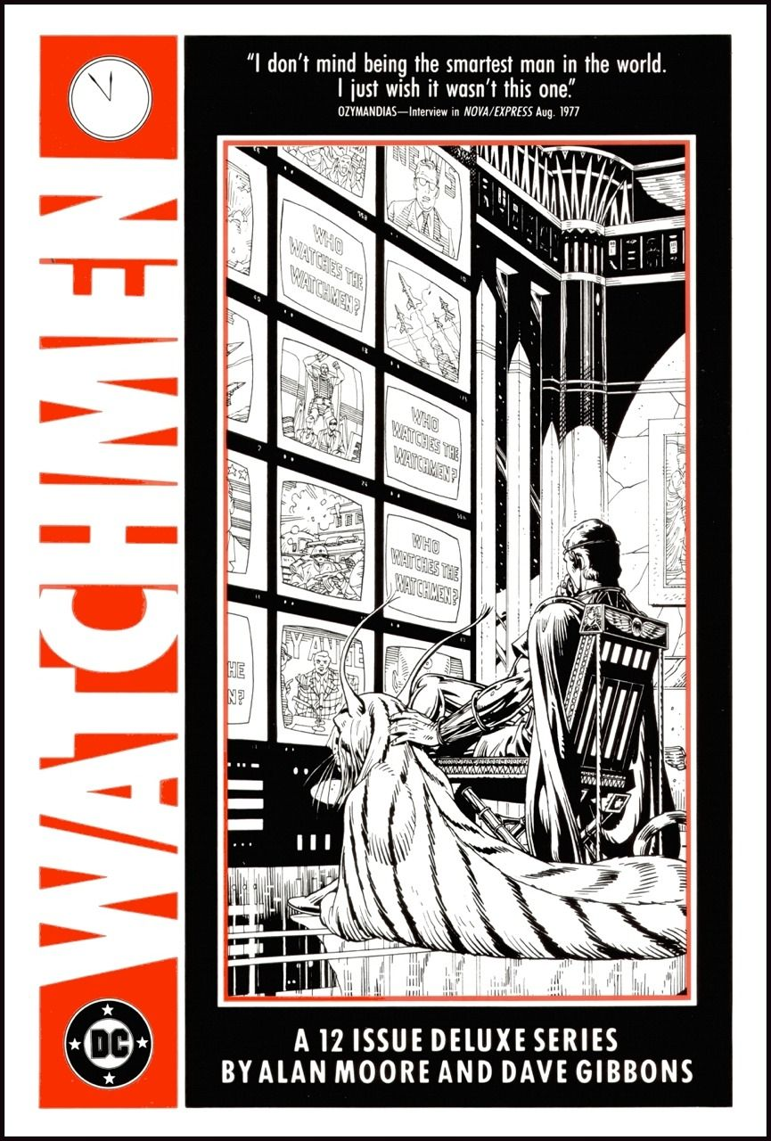 The Watchmen portfolio by Dave Gibbons and Alan Moore.