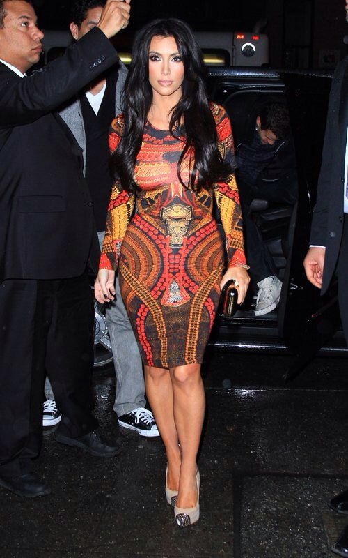 Miss Kim honey!!! I am in love with this dress!  Her hair and makeup are the cherries on top!