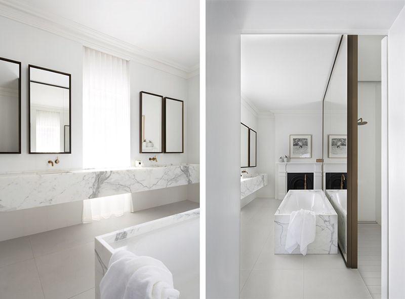 El mármol, protagonista en el cuarto de baño - Tránsito ...
