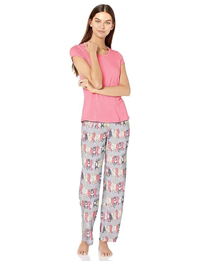 Nite Nite Munki Munki Womens Soft Jersey Knit Short Sleeve and Pant 2-Piece Pajama Set#designideas #designinspiration #designlovers #designersaree #designsponge #designersarees #designbuild #designersuits #fashionmuslim #scandinaviandesign #industrialdesign #nailsdesign #nailartist
