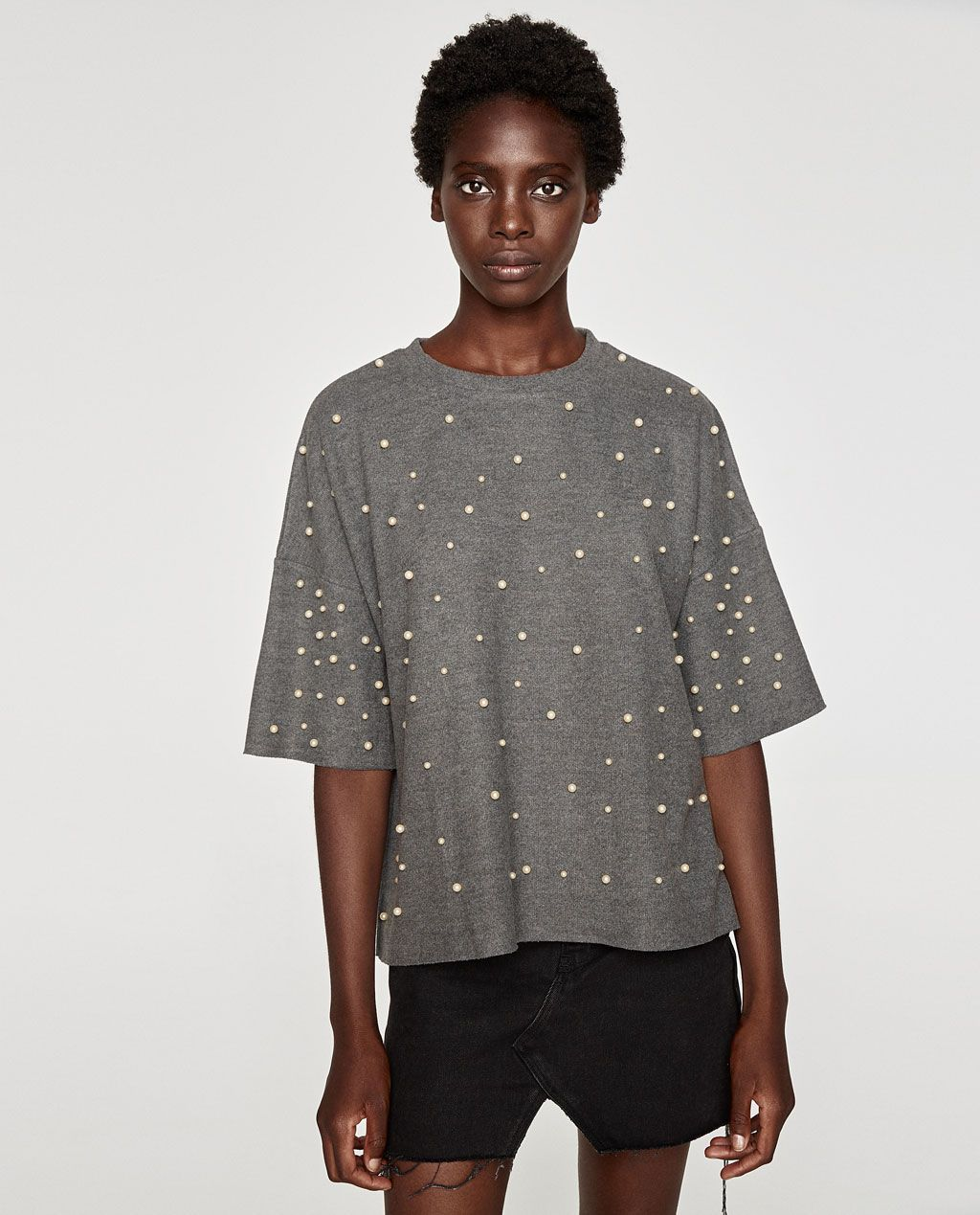 Image 2 of SOFT TOUCH SWEATER WITH FAUX PEARLS from Zara  a46018c42