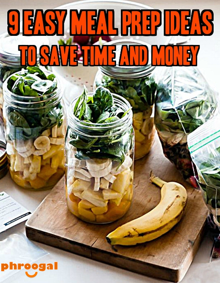 If you have a few extra minutes in the morning, take the time to prep some meals for the day. Not only will you save some time later, but you'll also save money. Bonus!