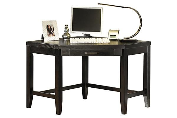 The Trishelle Corner Desk From Ashley Furniture Homestore Afhs Com With A Sleek Straight Line Contemporary Design Bathed In A Home Home Furniture Furniture